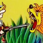 Между крокодилом и львом, мультфильм (1973) барон Мюнхаузен правдивые рассказы для детей