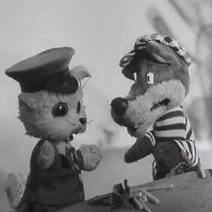 Старый волк и новичок Пуфик, мультфильм (1974) кукольный спектакль для детей сказка