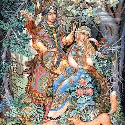 Золотой волос сказка Бажова детская книга уральские сказы картинки онлайн
