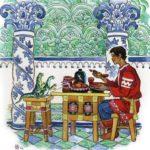 Две ящерки читайте сказку сказ Бажова онлайн книжка детям с иллюстрацией