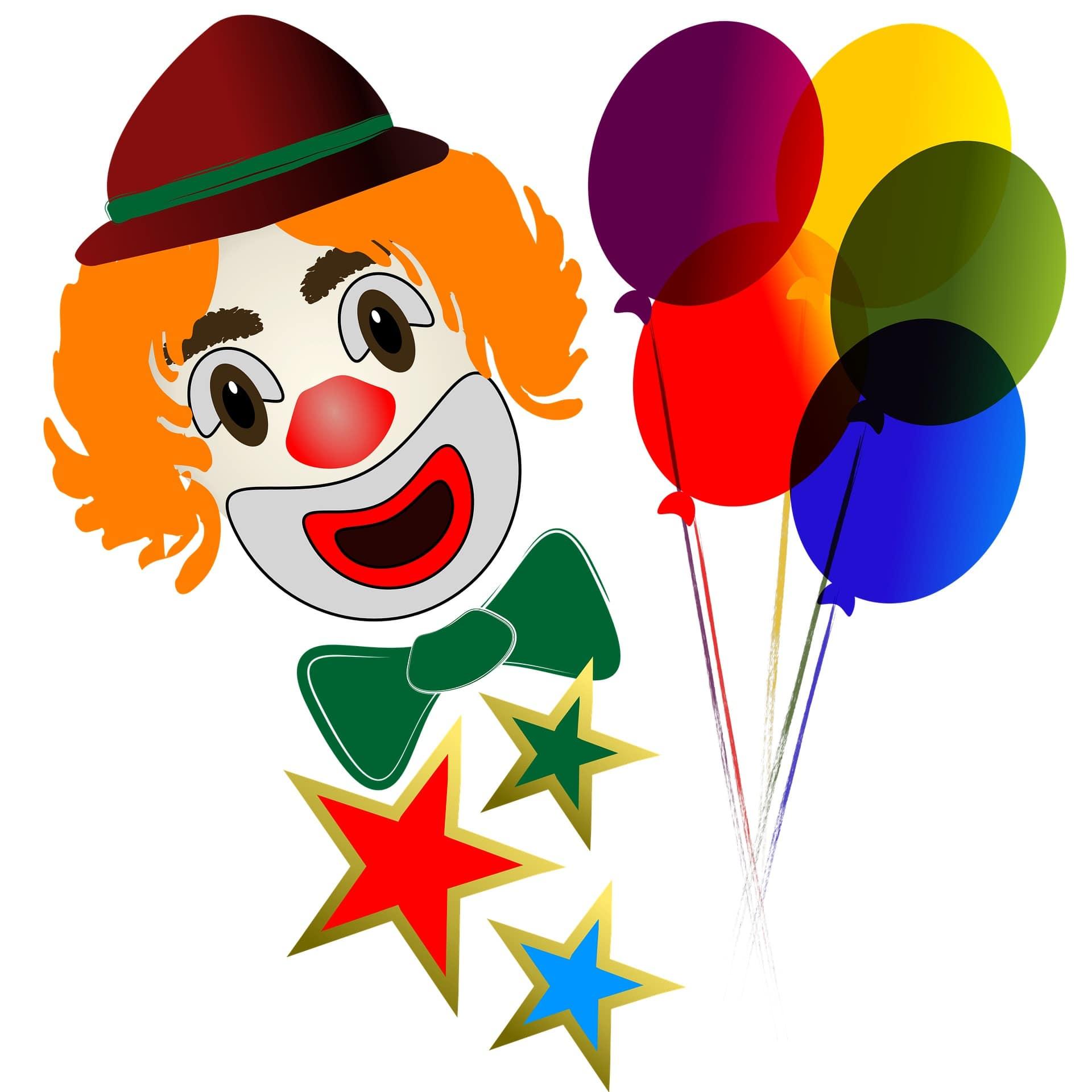 Детский праздник с красивыми разноцветными шарами