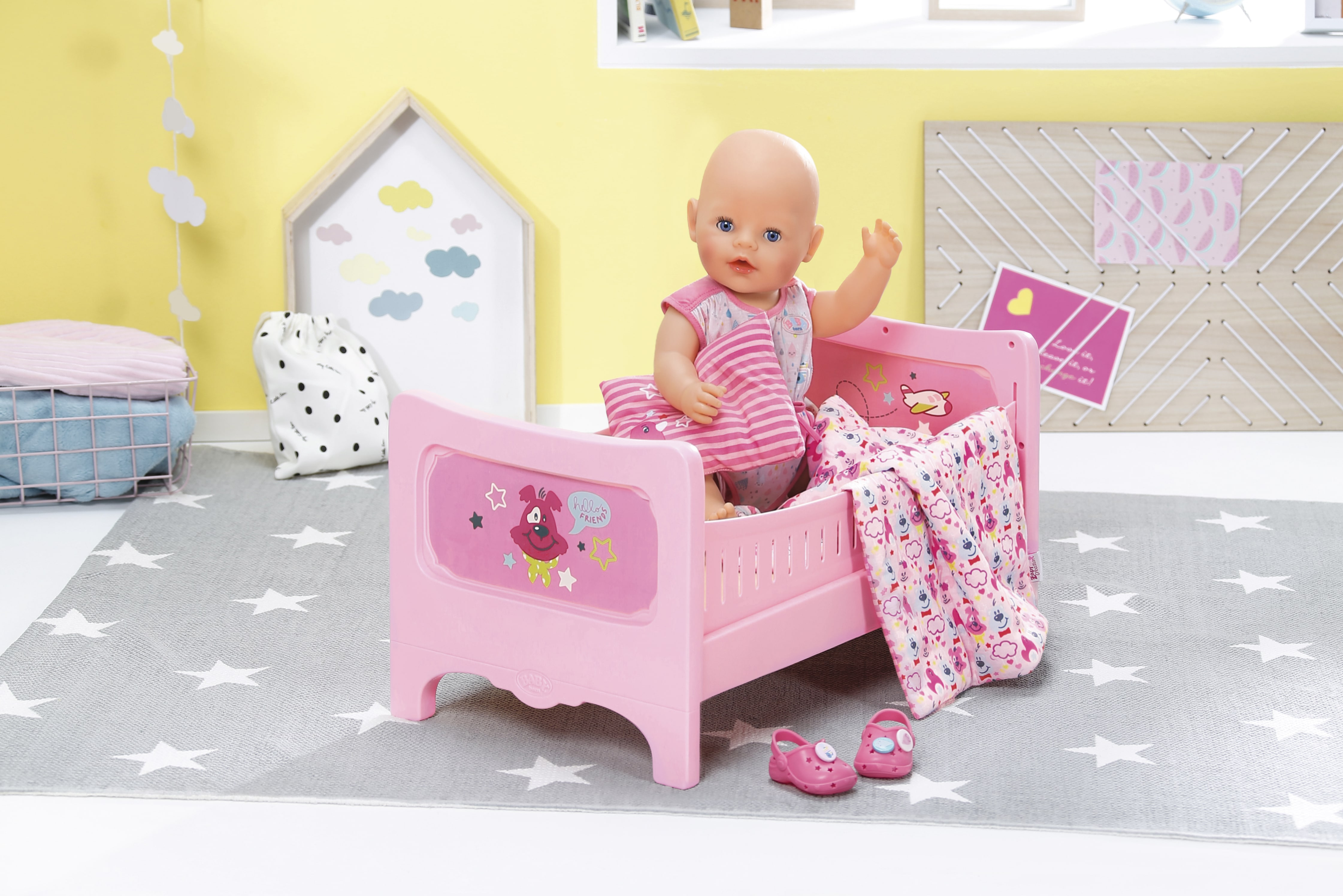 Игрушки для девочек кукольная кроватка из сказки