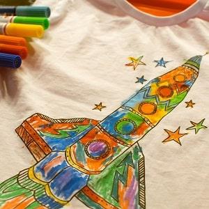 Печать картинок на детской одежде