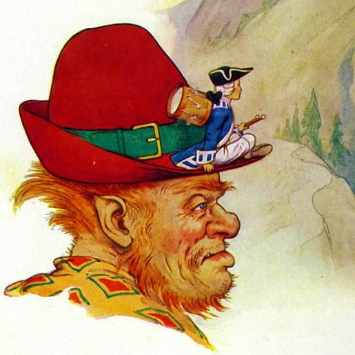 Барабанщик читайте сказку писателей братья Гримм с картинкой онлайн для детей