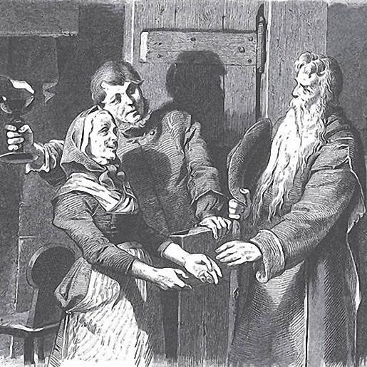 Бедняк и богач авторы братья Гримм сказка для чтения изображение
