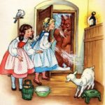 Белоснежка и Краснозорька сказка братьев Гримм читать книжку с рисунком онлайн