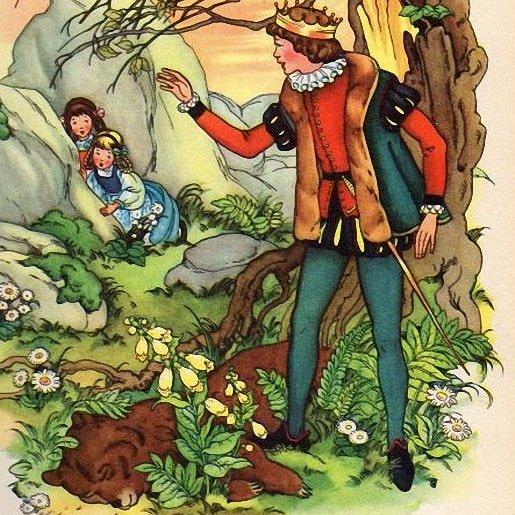 Беляночка и Розочка читать сказку братьев Гримм онлайн картинка крупные буквы детская книжка