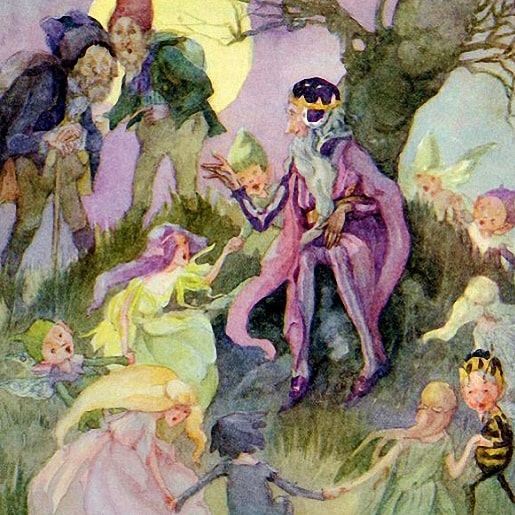 Дары маленького народца сказка братьев Гримм с картинкой