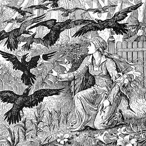 Двенадцать братьев сказка от братьев Гримм с иллюстрацией крупный шрифт