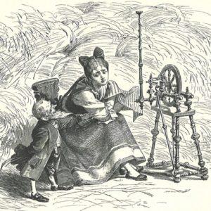 Гном-Тихогром сказка братьев Гримм книжка для чтения с иллюстрацией