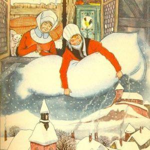 Госпожа Метелица немецкая сказка братья Гримм онлайн книжка с картинкой