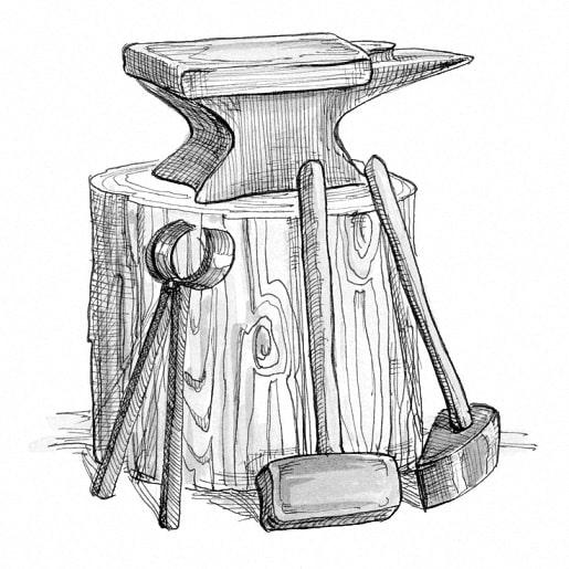 Кованный заново человек сказка братьев Гримм с рисунком