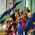 Семь воронов сказка братьев Гримм крупный шрифт