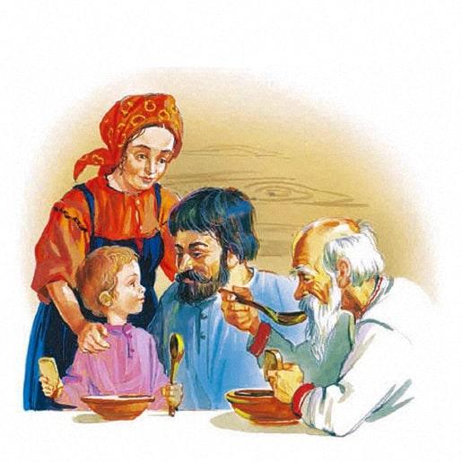 Старый дед и внучек сказка братьев Гримм
