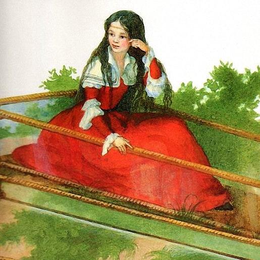 Стеклянный гроб читайте сказку с иллюстрацией авторы Братья Гримм