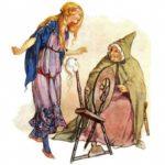 Веретенце, челнок и иголка книга сказка братьев Гримм чтение онлайн бесплатное