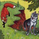 Волк и лис сказка от братьев Гримм читать книжку онлайн