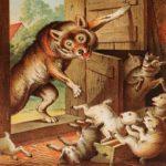Волк и семеро козлят сказка братьев Гримм онлайн читать текст книжки с картинкой