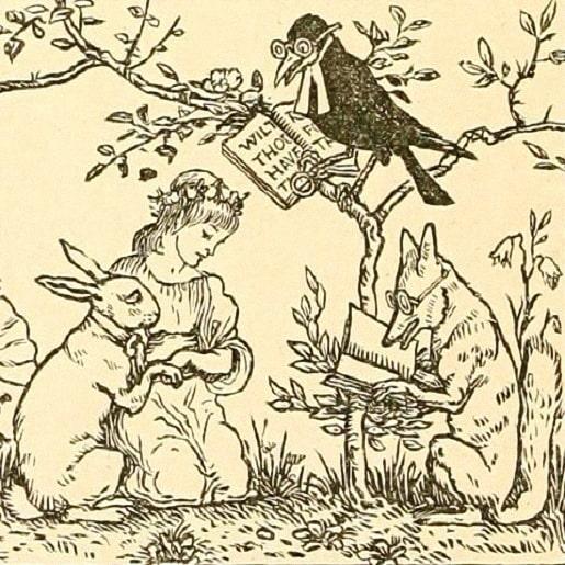 Заячья невеста сказка братьев Гримм с иллюстрацией