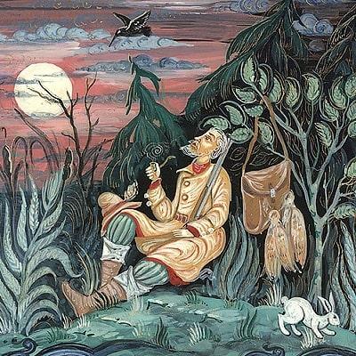 Рассказ про Емелю-охотника читаем большими буквами детская книга онлайн Мамин-Сибиряк