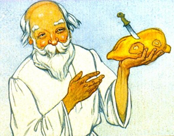 Как мужик гусей делил сказка Льва Толстого картинка читаем онлайн