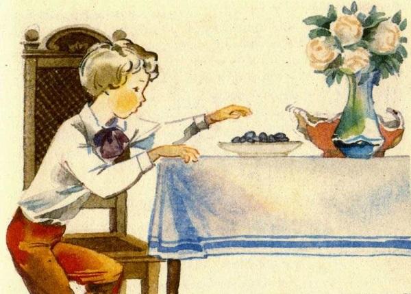 Косточка рассказ для детей автор Лев Толстой картинка онлайн