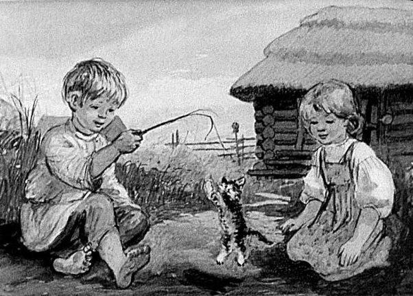 Котёнок рассказ автор Лев Толстой читаем с детьми