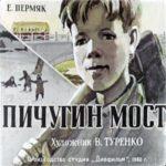 Пичугин мост, диафильм (1960) рассказ с иллюстрацией