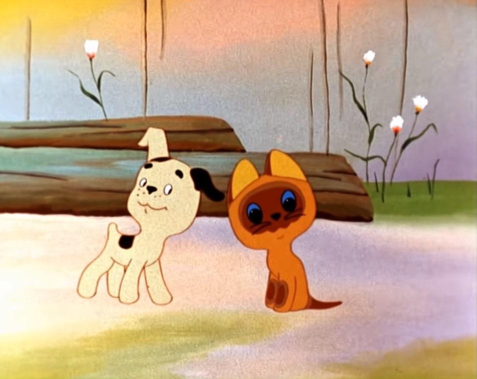 котёнок щенок добрые друзья все серии мультика котёнок Гав бесплатно