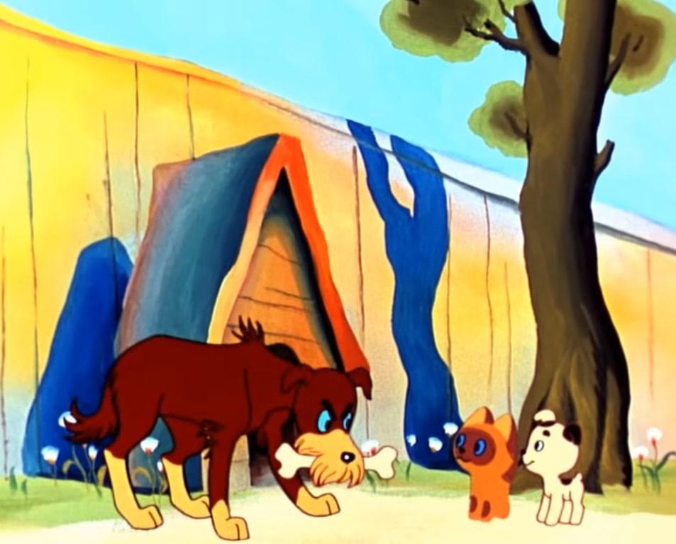 Пёс мультик котёнок Гав иллюстрация кадр