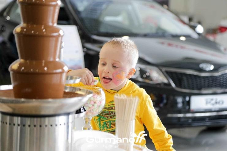 Шоколадный фонтан детские праздники